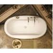 105744-000-001 - MAAX Ella Sleek 66in x 36in Soaking Bathtub with Center Drain