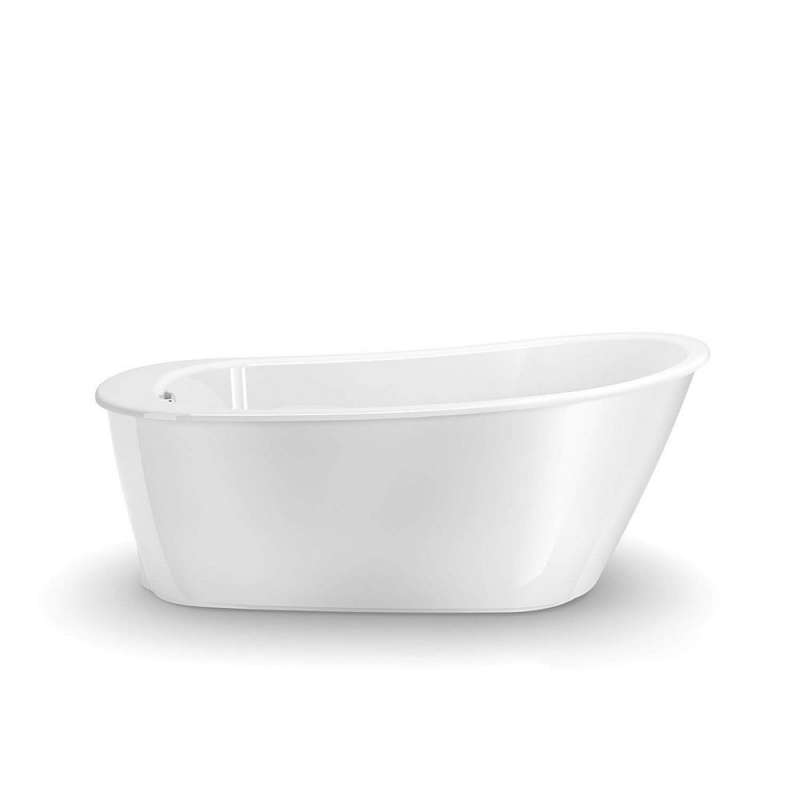 105797-000-002 - MAAX Sax 60in x 32in Soaking Bathtub with End Drain