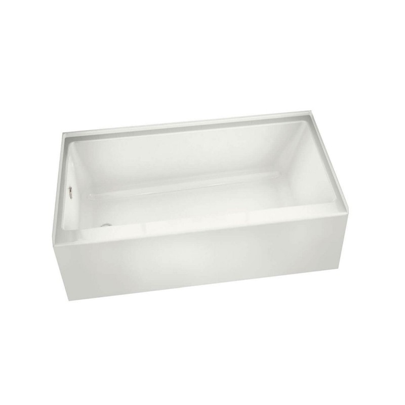 105815-L-000-001 - MAAX Rubix 60in x 30in STF Soaking Bathtub with Left Hand Drain