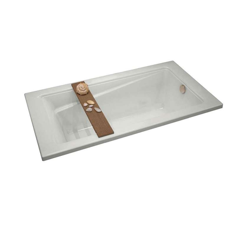 106181-000-001 - MAAX Exhibit 72in x 36in Soaking Bathtub with End Drain