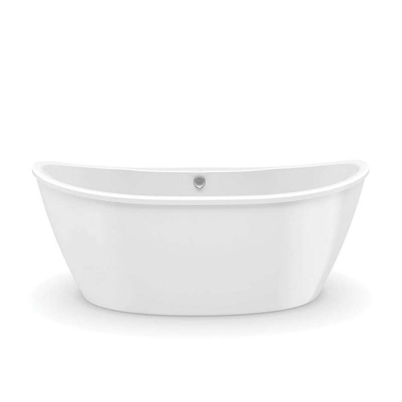 106193-000-002 - MAAX Delsia 66in x 36in Soaking Bathtub with Center Drain