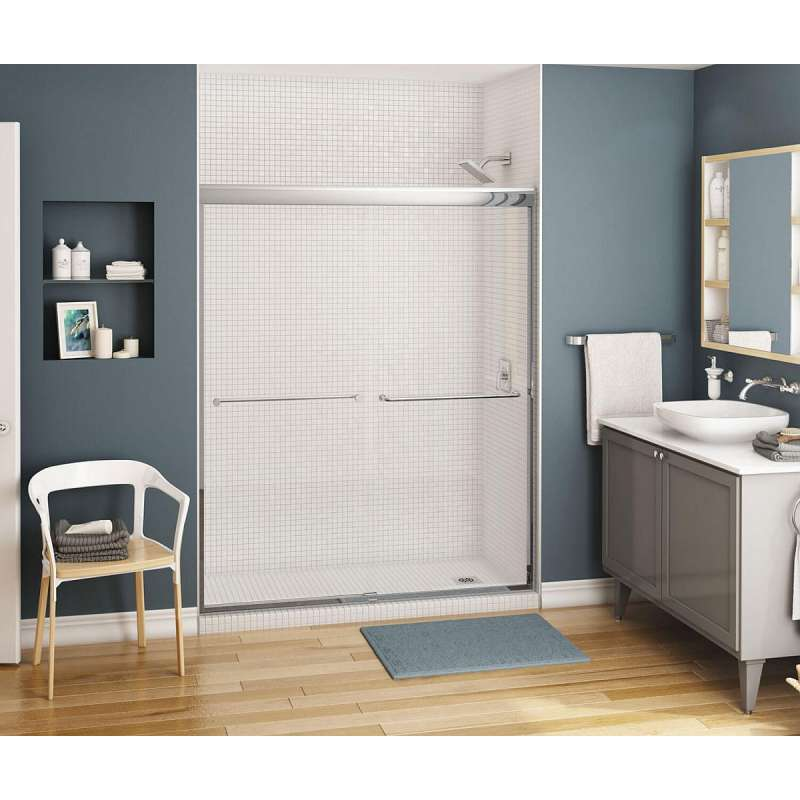 134565-000 - MAAX Kameleon 6mm 55 to 59in x 71in Semi-frameless Alcove Shower Door