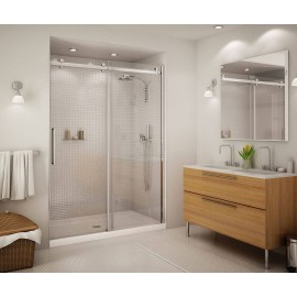 138997-900-000 - MAAX Halo 56.5 to 59in x 78.75in Clear Frameless Alcove Shower Door