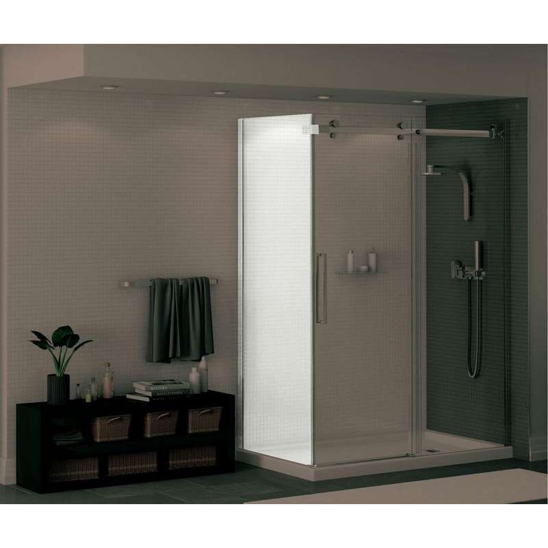 138998-900-084-000 - MAAX Halo 28.75 to 29.875in x 78.75in  Clear Glass Frameless Return Panel for 32in Base