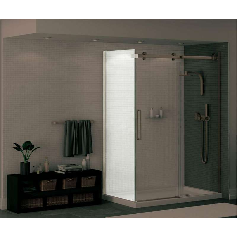 138998-900-305-000 - MAAX Halo 28.75 to 29.875in x 78.75in  Clear Glass Frameless Return Panel for 32in Base