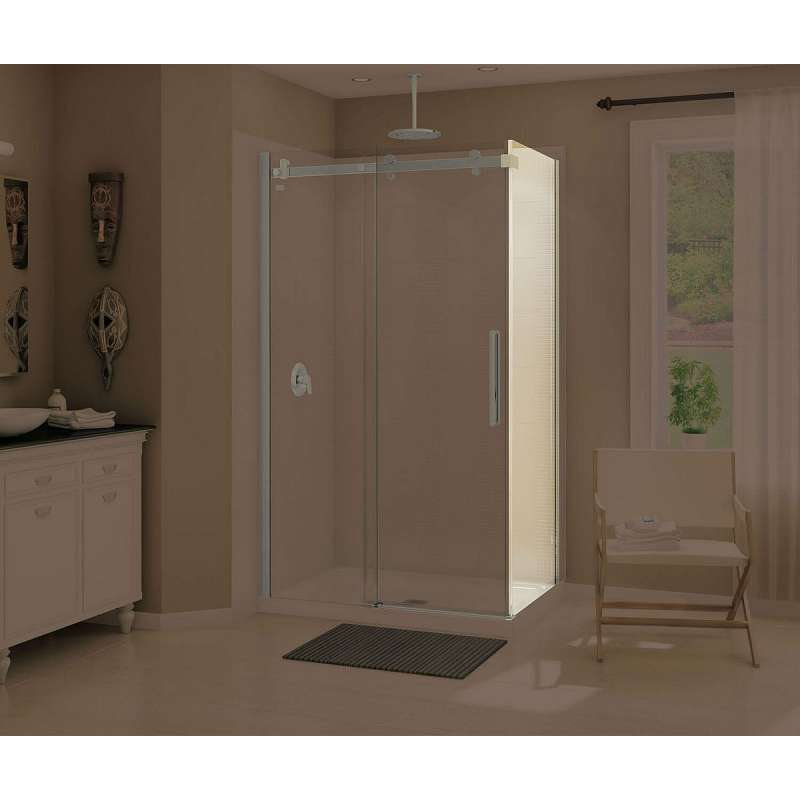 139396-900-305-000 - MAAX Halo 32.75 to 33.875in x 78.75in  Clear Glass Frameless Return Panel for 36in Base