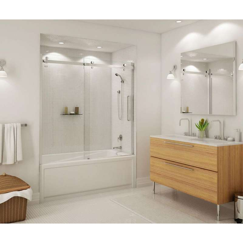 139398-900-000 - MAAX Halo 56.5 to 59in x 59in Clear Frameless Tub Door