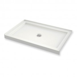 MAAX B3Round 48in x 34in Rectangular Acrylic Shower Base with Center Drain