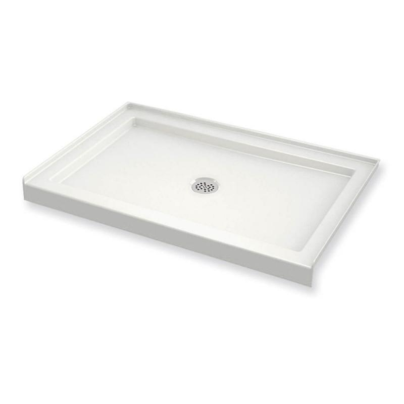 410003-501-001 - MAAX B3Round 48in x 36in Rectangular Acrylic Shower Base with Center Drain