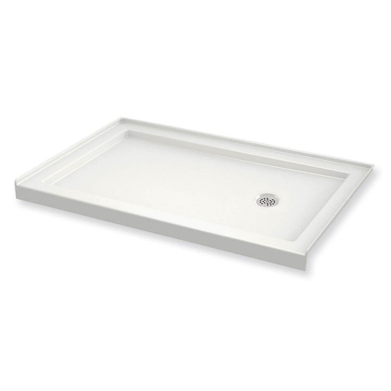 410005-L-501-001 - MAAX B3Round 60in x 32in Rectangular Acrylic Shower Base with Left-Hand Drain