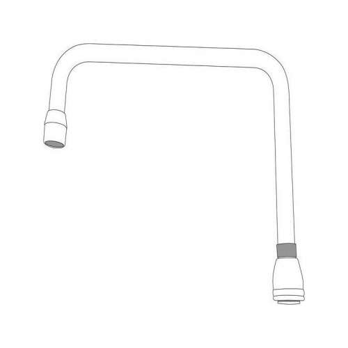Moen M-DURA 10-In Double Bend Spout
