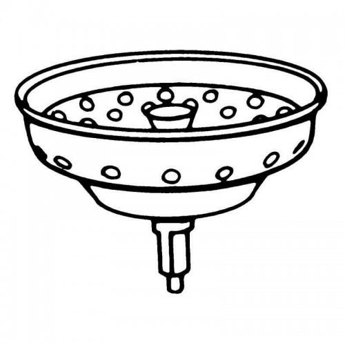Moen 3-1/2-In Kitchen Sink Strainer Basket