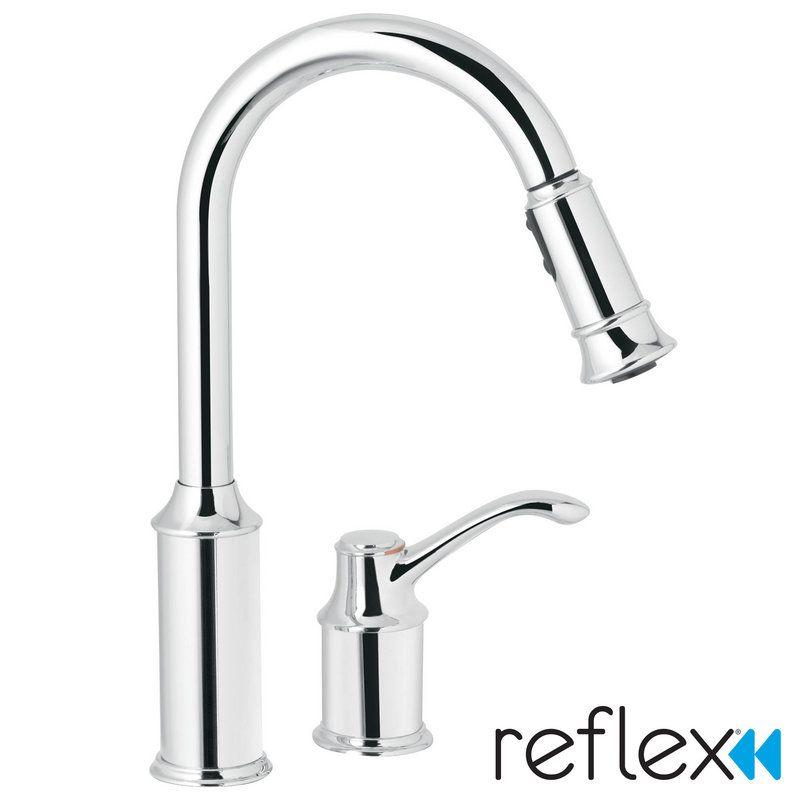 Buy Moen Aberdeen Single Pull Down Kitchen Faucet In Chrome 7590c
