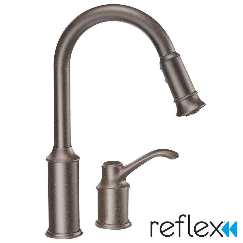 Buy Moen Aberdeen Single Pull Down Kitchen Faucet In Oil Rubbed
