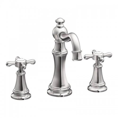 Moen Weymouth Double-Handle Widespread Bathroom Faucet