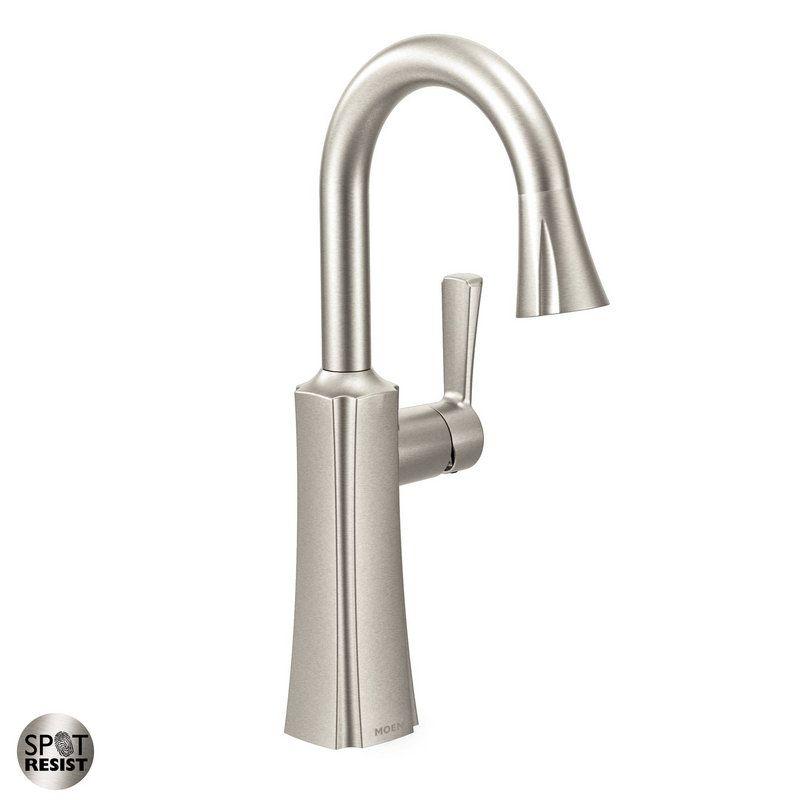 Moen Etch Single-Handle Pull-Down Bar Faucet