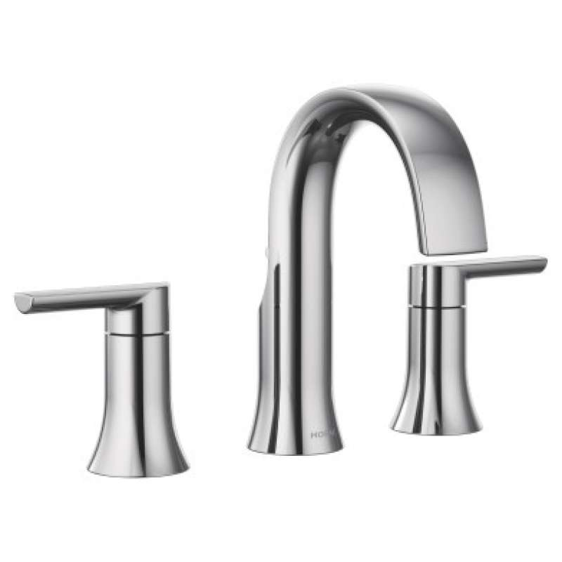 Moen Doux 1.2-GPM Widespread Widespread Bathroom Sink Faucet with Watersense