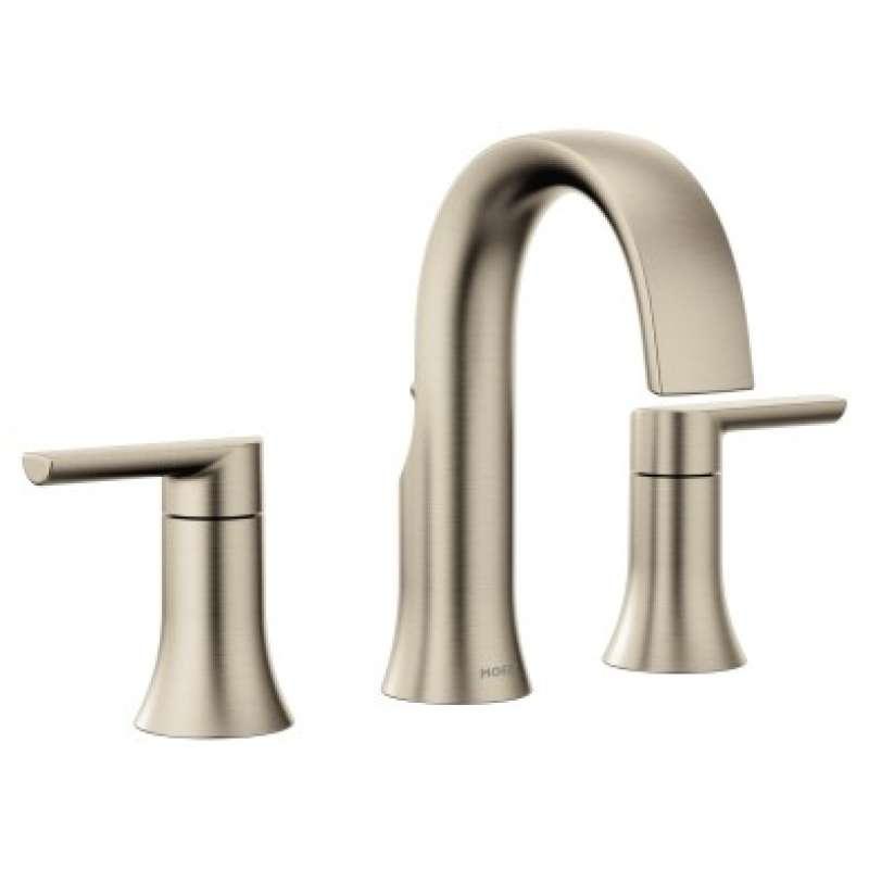 Moen Doux 1.2-GPM Widespread Widespread Bathroom Sink Faucet with Watersense