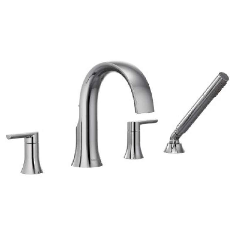 Moen Doux 1.75-GPM Deck Roman Bathtub Faucet with Watersense - In Multiple Colors