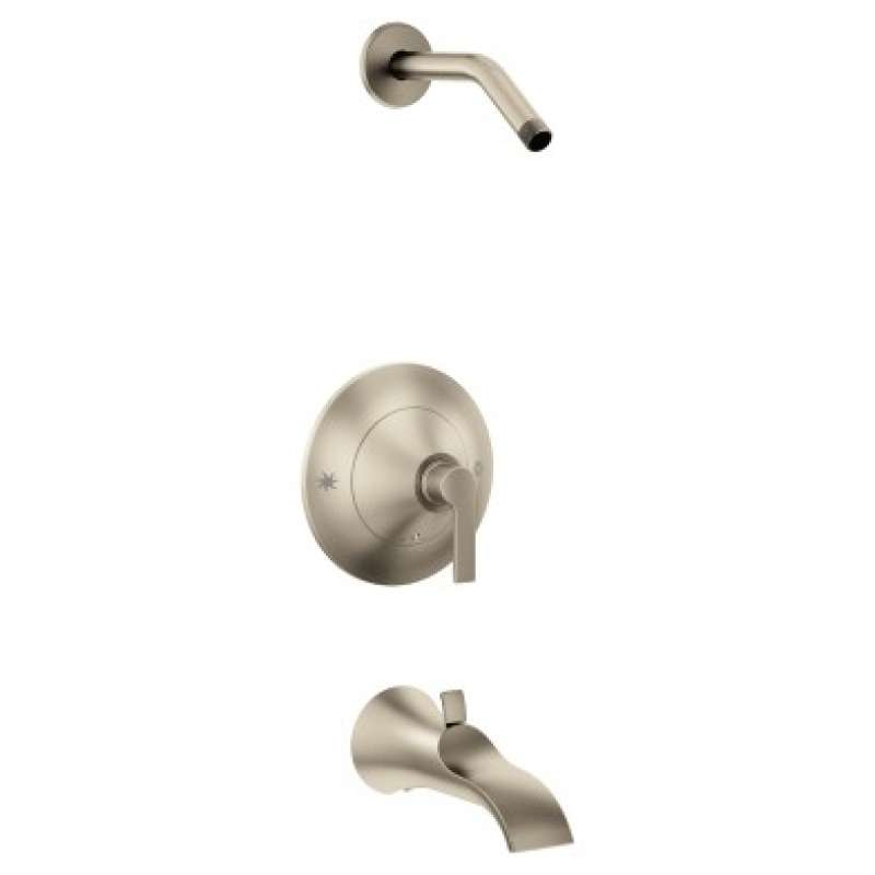 Moen Doux Wall-Mounted Tub and Shower Trim without Showerhead