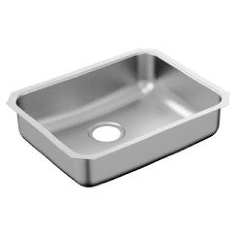 Moen 2000 Series 23-In X 18-In 20 Gauge Single Bowl Undermount Sink
