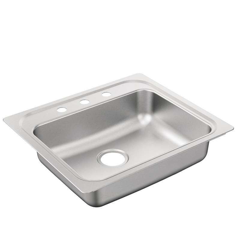 Moen 2200 Series 25-In X 22-In 22 Gauge Drop-In Sink