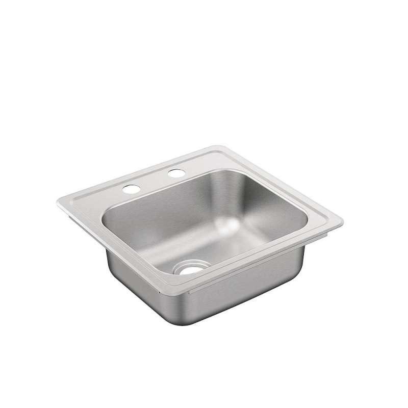 Moen 2000 Series 15-In X 15-In 20 Guage Drop-In Sink