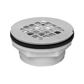 Oatey Shower Drain with Stainless Steel Strainer, 2-Inch