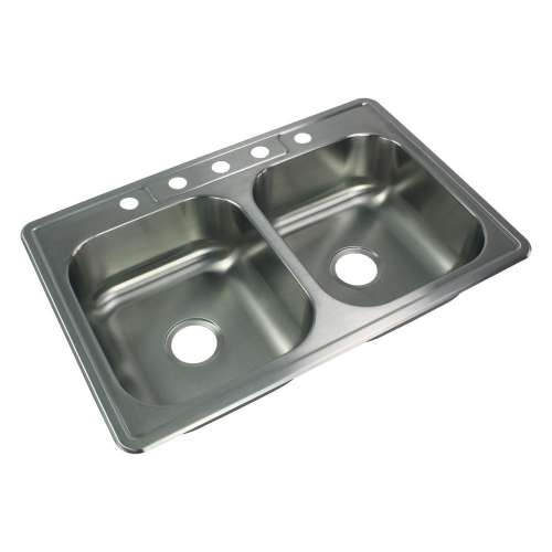 River's Edge 20 Gauge Stainless Steel 22-in Drop-in Kitchen Sink