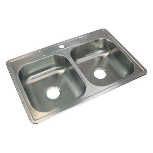 River's Edge 22 Gauge Stainless Steel 22-in Drop-in Kitchen Sink