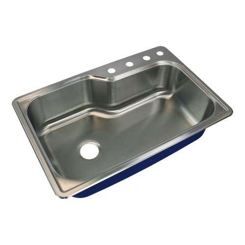 River's Edge 16 Gauge Stainless Steel 22-in Drop-in Kitchen Sink