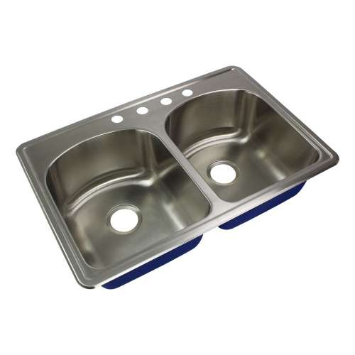 River's Edge 16 Gauge Stainless Steel 22-in Drop-in Kitchen Sink