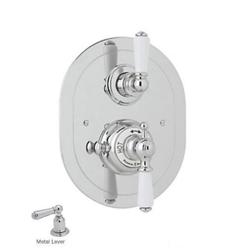 Rohl Perrin And Rowe Thermostatic Shower Valve Trim In Chrome U
