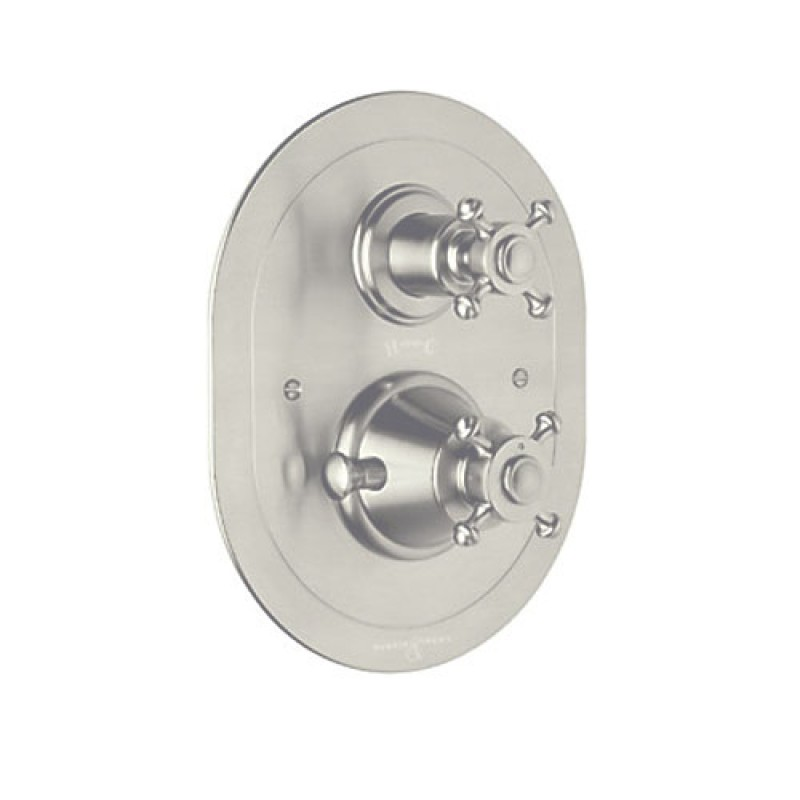 Rohl Perrin And Rowe Thermostatic Shower Valve Trim In Satin Nickel