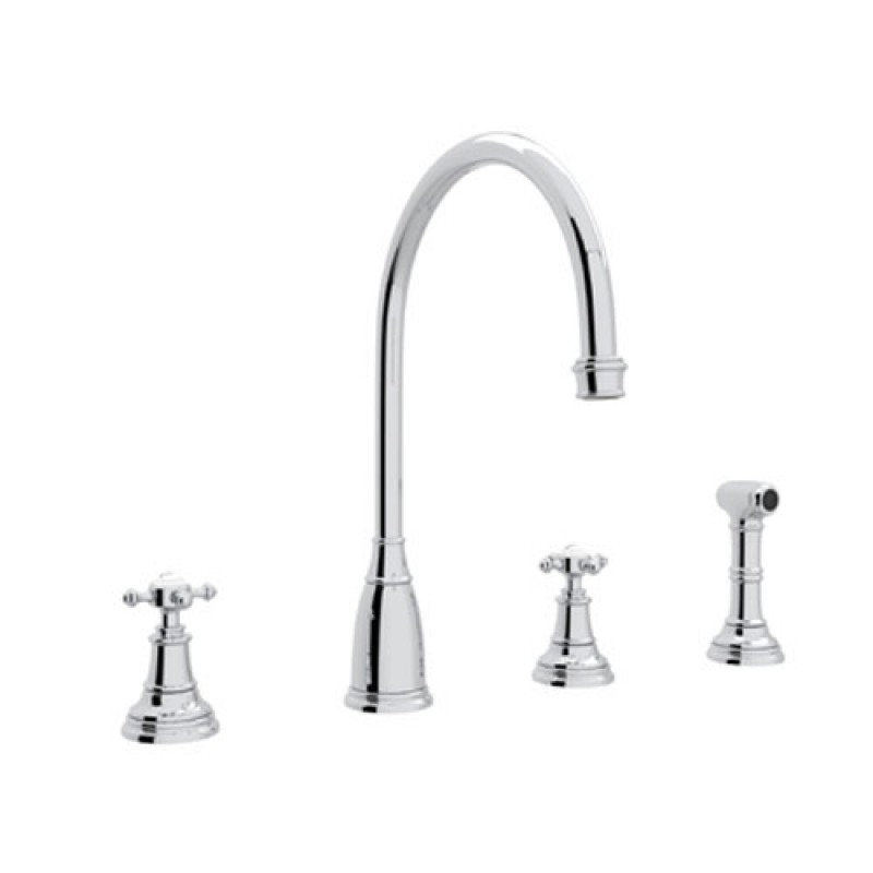 Buy Rohl Perrin And Rowe Widespread Kitchen Faucet In Chrome U 4735x