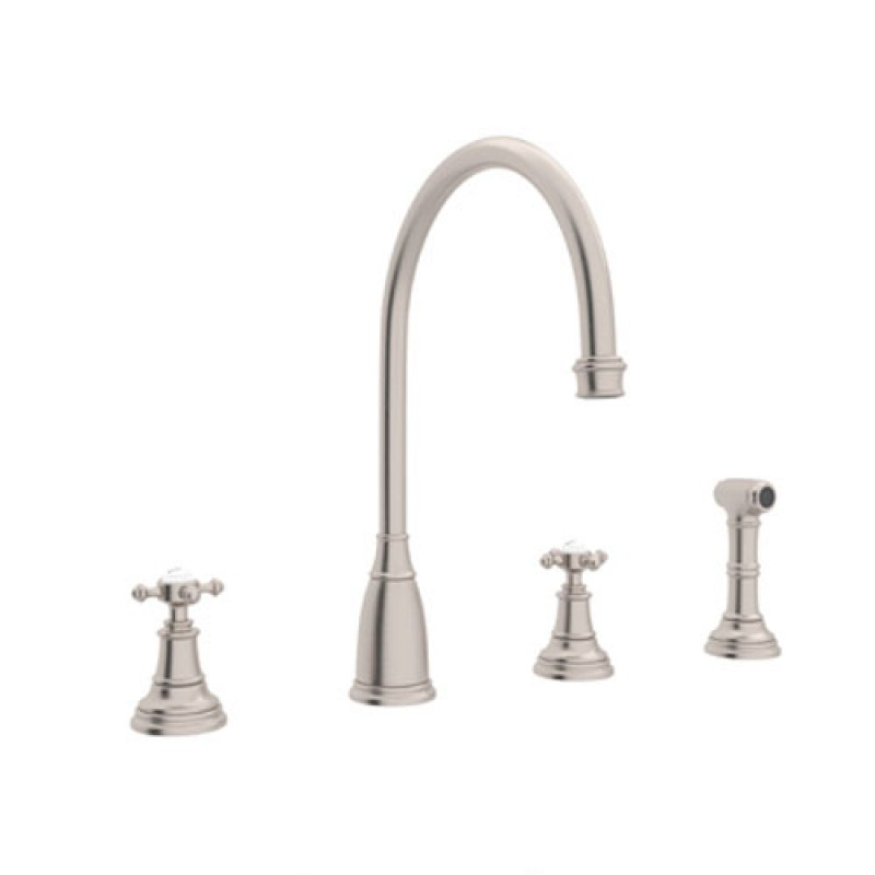 Buy Rohl Perrin And Rowe Widespread Kitchen Faucet In Satin Nickel U