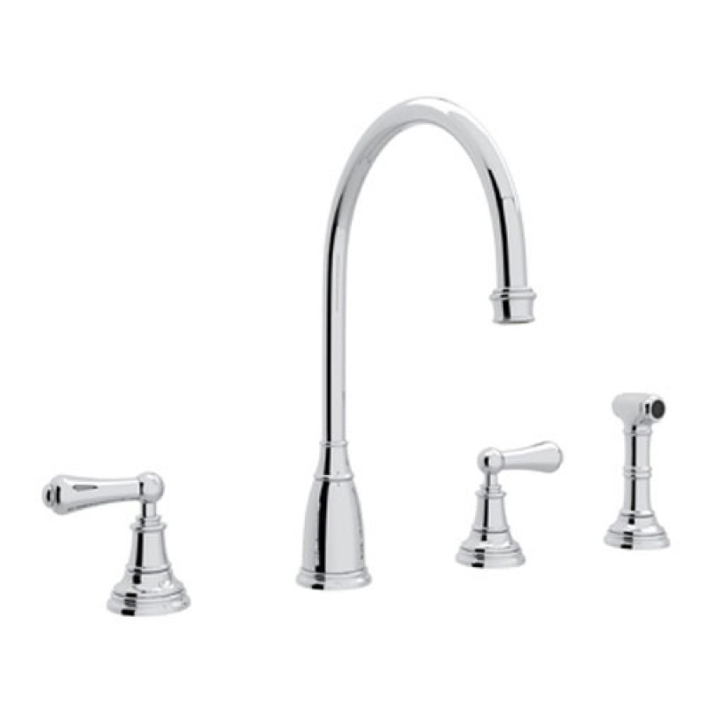 Buy Rohl Perrin And Rowe Widespread Kitchen Faucet In Chrome U 4736l