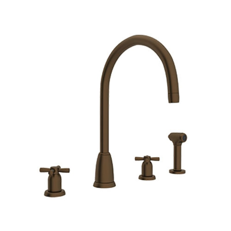Buy Rohl Perrin And Rowe Widespread Kitchen Faucet And Side Spray In
