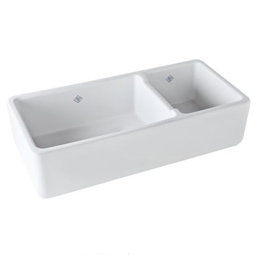 Rohl Shaws 40-In Fireclay Farmhouse Kitchen Sink