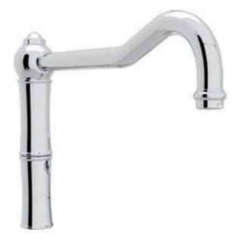 9-in Standard Reach Column Spout With Longer Connection At Base - In Multiple Colors
