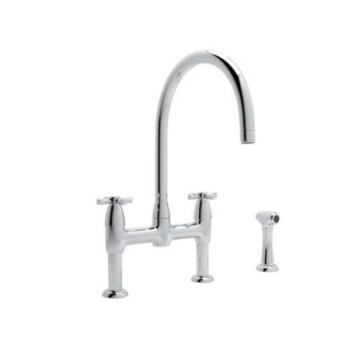 Rohl Perrin and Rowe Bridge Faucet With Single-Cross Handle
