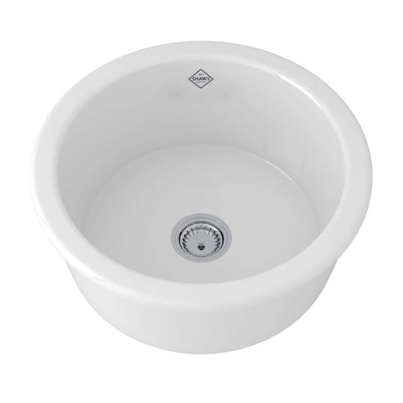 Rohl Shaws Fireclay Dual-Mount Kitchen Sink
