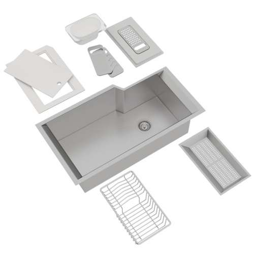 Rohl Culinario Stainless Steel Undermount Kitchen Sink