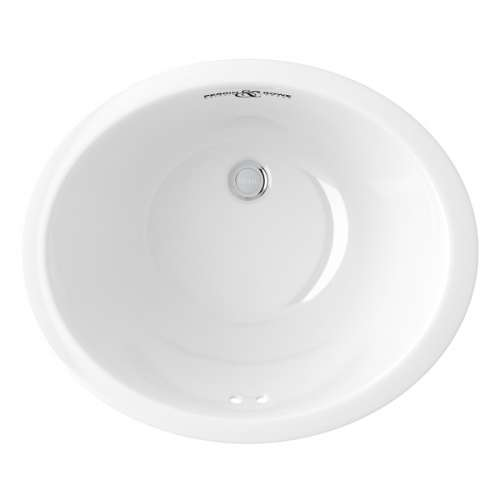 Rohl Perrin and Rowe 18-in. Vitreous China Oval Undermount Bathroom Sink, In White