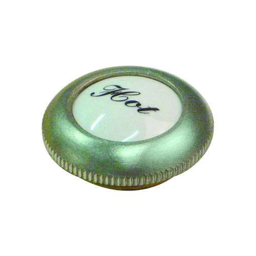 Threaded Screw Cover Cap With White Porcelain Insert And Hot Script