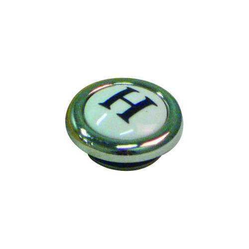 Pressure Fit Porcelain Screw Cover Cap Complete With H Letter