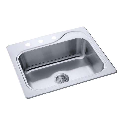 Sterling Southhaven 25-in. Single Bowl Drop-in 20 Gauge Stainless Steel Kitchen Sink - In Multiple Configurations