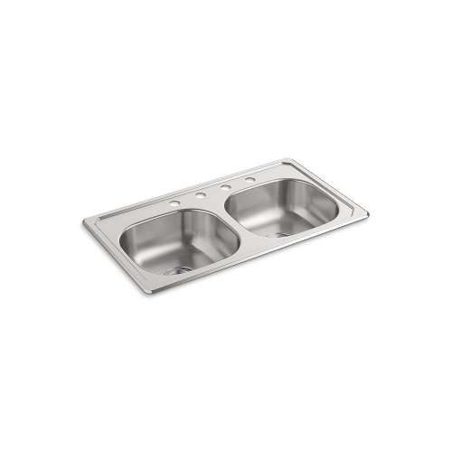 Sterling Double Bowl Drop-in 20 Gauge Stainless Steel Kitchen Sink