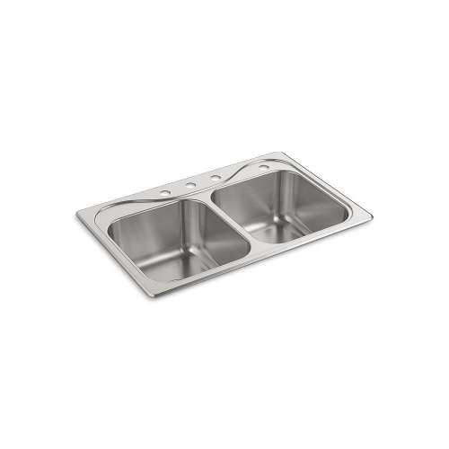 Sterling Southhaven 33-in. Double Bowl Drop-in 18 Gauge Stainless Steel Kitchen Sink