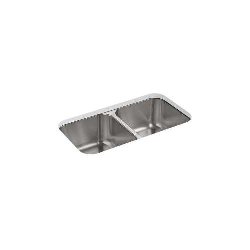 Sterling Carthage 30-in. Double Bowl Undermount 18 Gauge Stainless Steel Kitchen Sink